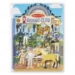 Melissa & Doug tegevusraamat korduvkasutatavate kleepsudega - Ratsutamisklubi