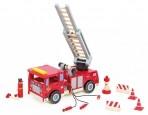 Mentari puidust tuletõrjeauto lisadega