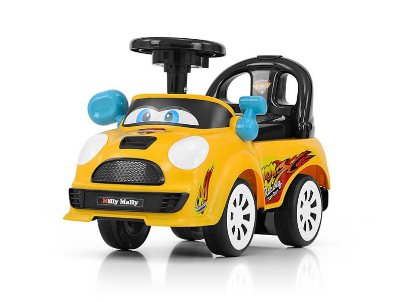 Milly Mally pealeistutav auto Joy kollane