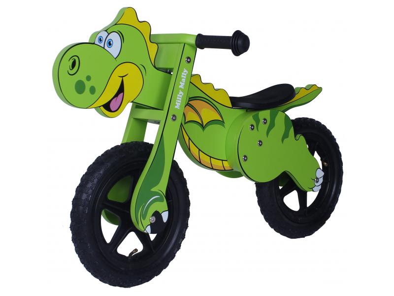 Milly Mally puidust jooksuratas Dino roheline