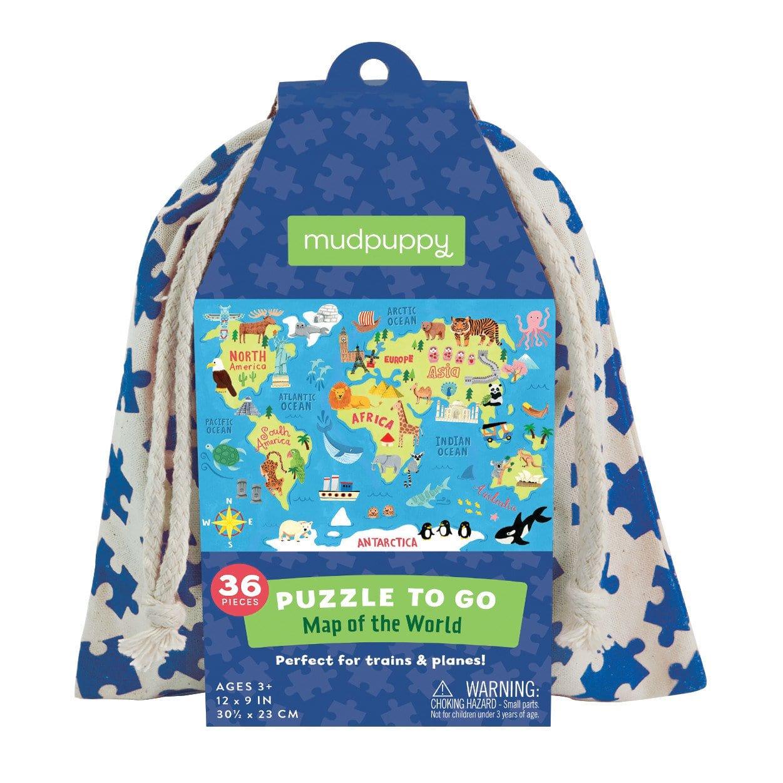 Mudpuppy pusle riidest kotis Maailma kaart