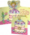 Printsess Lillifee kaart-kutse ümbrikuga 8tk
