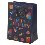 Puckator kinkekott Happy Birthday suurus keskmine