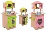 Mänguköök puidust roosa/roheline