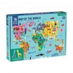 Mudpuppy 78-osaline geograafiline pusle Maailmakaart
