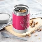 Reer roostevabast terasest toidutermos ColourDesign 350ml roosa