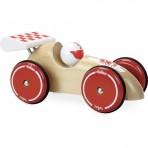 Vilac puidust võistlusauto XL natural/punane