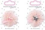 Beautiful Stars juukseklambrid roosa ja hall täheke