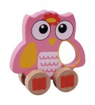 Sun Baby puidust mänguasi Öökull roosa