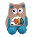 Sun Baby puidust mänguasi Öökull sinine