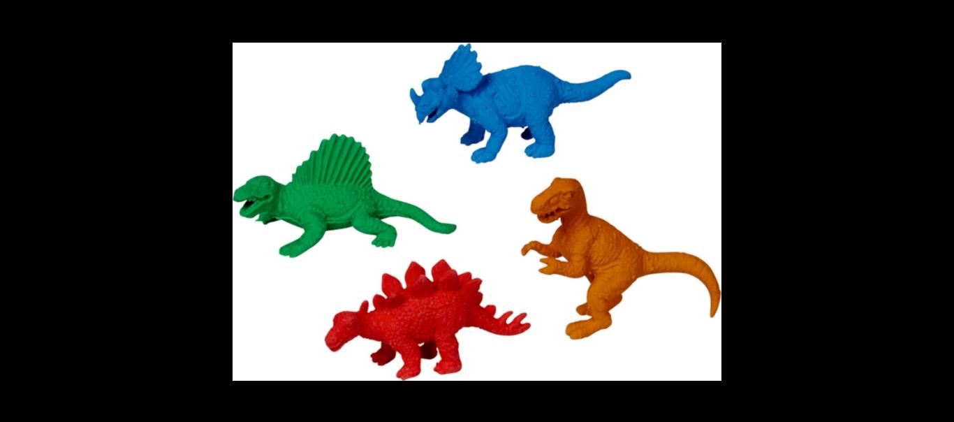 T-Rex World kustutuskumm 1tk ERINEVAD