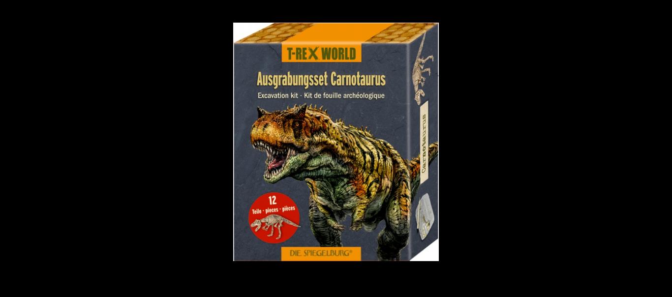 T-Rex World luude väljakaevamiskomplekt Carnotaurus