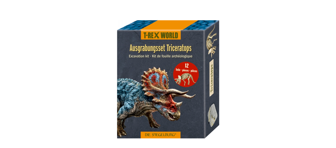 T-Rex World luude väljakaevamiskomplekt Triceratops