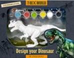 T-Rex World värvimiskomplekt Allosaurus