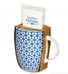 Tassikomplekt koos teepakiga Sinised lilled