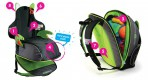 Trunki turvaiste-seljakott 2in1 roheline