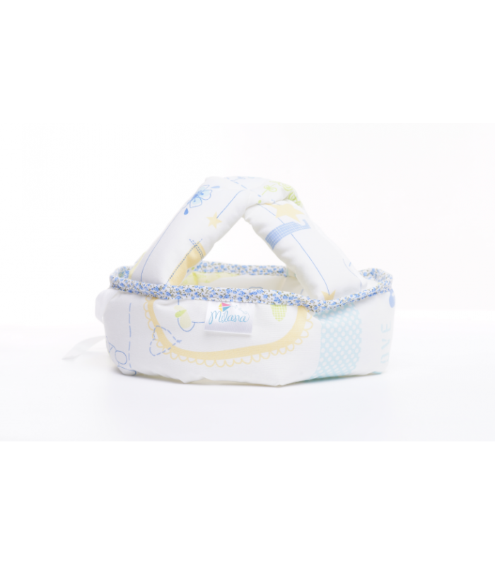 Pehmendusega peakaitse-turvamüts beebile Blue Jacadi