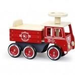 Vilac puidust tuletõrjeauto hoiukastiga