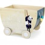 Vilac puidust mänguasjakast ratastel