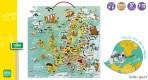 Vilac puidust magneetiline kaart Euroopa
