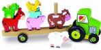 Vilac puidust mänguasi-klotsid Loomad traktoril