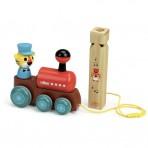 Vilac puidust järelveetav mänguasi Rong koos vilega