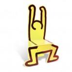 Vilac puidust lastetool Keith Haring kollane