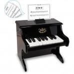 Vilac puidust väike klaver must
