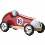 Vilac puidust retro võidusõiduauto punane-must