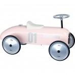 Vilac metallist pealeistutav auto Vintage roosa