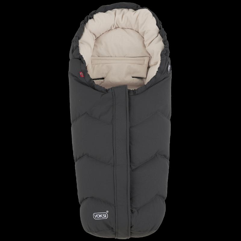 Voksi soojakott turvahälli või vankrisse Move Grey Cream 2020