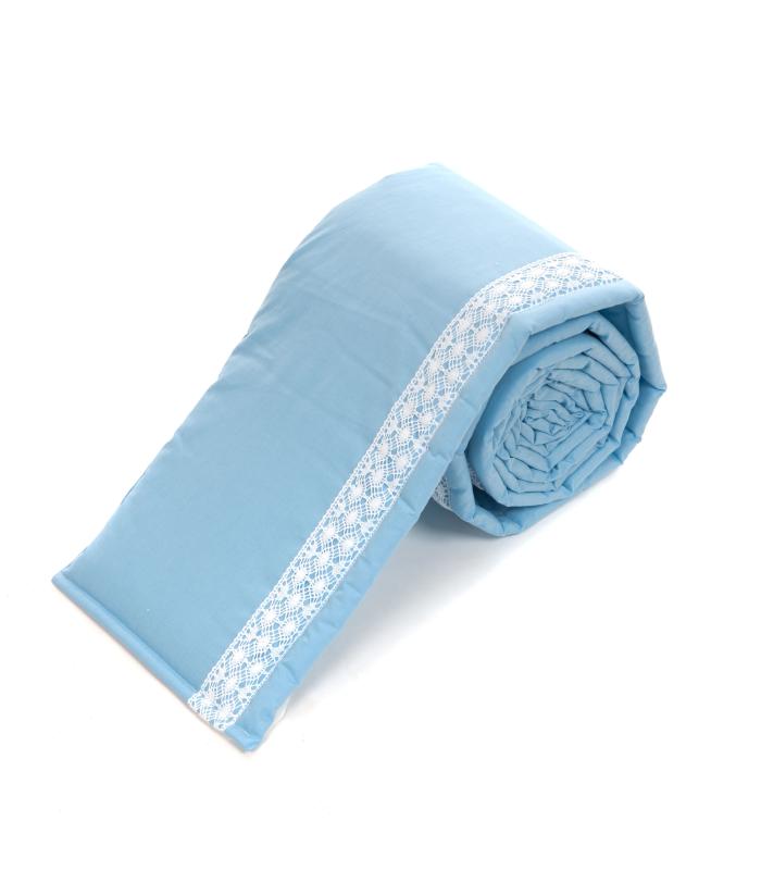 Voodipehmendus beebivoodile pitsiga sinine